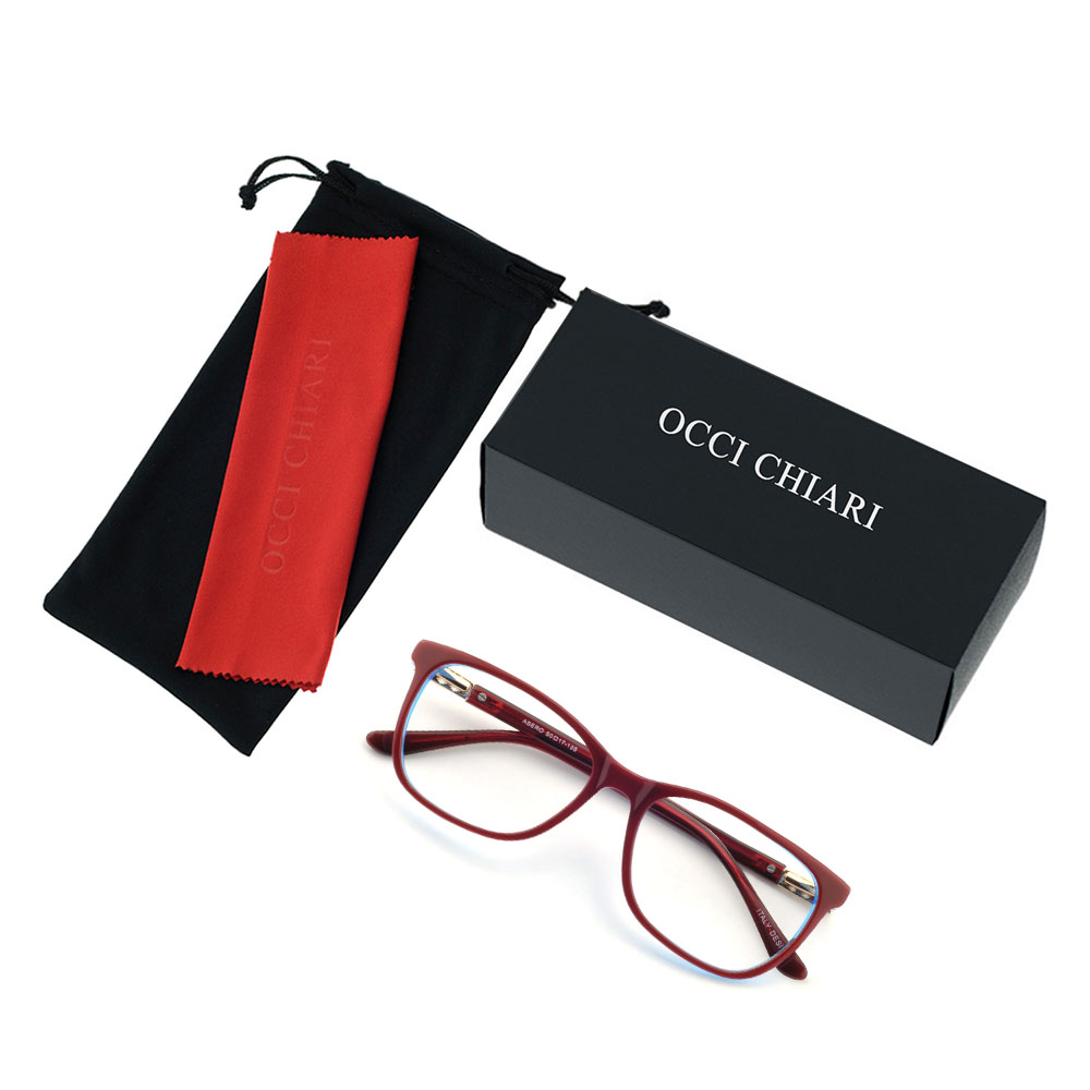 Image 5 - OCCI CHIARI Vintage Myopia Glasses Frames Women Anti Blue Ray Computer Eyewear Diamond Spring Hinge Optical Spectacles Frame-in Women's Eyewear Frames from Apparel Accessories