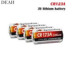 4 шт. литиевая батарея CR123 CR 123A CR17345 16340 cr123a 3v Non-аккумуляторные батареи для Камера газовый счетчик сухая батарея