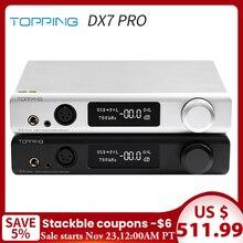 토핑 DX7 Pro ES9038Pro DAC 및 헤드폰 앰프 Bluetooth 5.0 32BIT/768kHz DSD1024 DX7PRO 무선 디코더 헤드폰 앰프