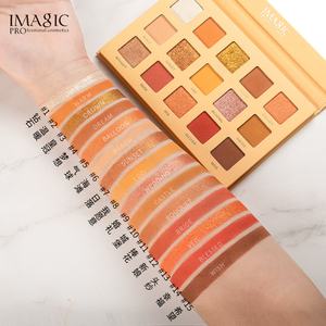 Image 3 - IMAGIC combination set 15 color eyeshadow tray new 9 makeup brush girls beauty cosmetics