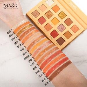 Image 3 - Imagic conjunto de combinação 15 cor eyeshadow bandeja nova 9 maquiagem escova meninas beleza cosméticos