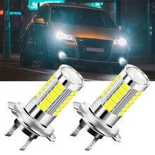 Ampoules de phares de voiture H7 6000K, 2 pièces, pour Fiat 500 Panda Stilo Punto Doblo Grande BravoDucato