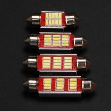 10 шт. гирлянда 31 мм 36 мм 39 мм 41 мм C5W CANBUS без ошибок автоматический светильник 12 SMD 4014 светодиодный купольный светильник для салона автомобиля ...