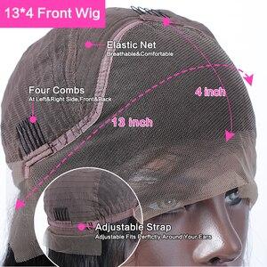 Image 5 - Peluca de cabello humano brasileño Jerry Rizado corto Bob, prearrancada, sin pegamento, de ondas profundas, 13x4, Remy