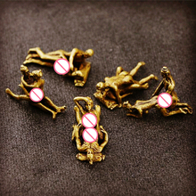 5pc/lot Brass Sexy Figurine Status Funny Mini Sex Home Decor Office Decoration Ornament Crafts Women Men Love Statues Sculptures