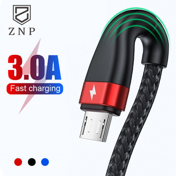 ZNP Micro USB Cable Fast Charging For Redmi 7 7A Note 5 Android Mobile Phone Microusb USB Cable For Samsung J5 J7 Charger Cable