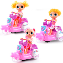 Oeak Child Electric Toys Motorcycle Kids Musical Toys Dance Doll Flashing LED Light Children Toys Educational Gifts For Girl