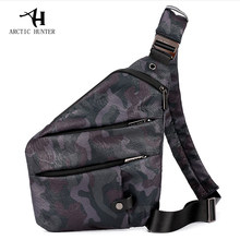 ARCTIC HUNTER Brand Male Messenger Bag Shoulder Bags Men Hidden Chest Pack Mens Retro Crossbody Bag Cool Motorcycle Sling Bag(China)