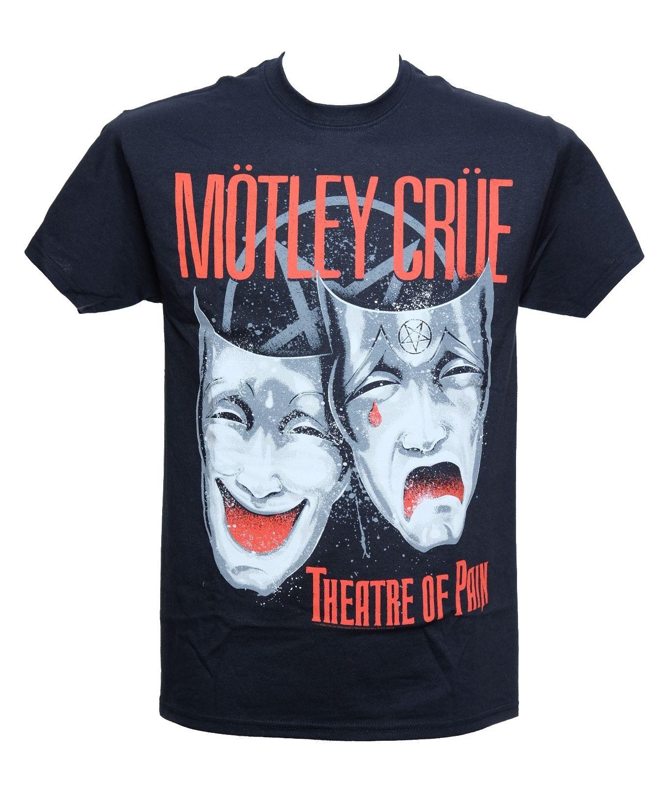 MOTLEY CRUE - THEATRE OF PAIN - Official Licensed T-Shirt - New M L XLShort Sleeve LeisureTop Tee Men T Shirt