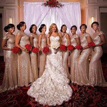 Розовое золото платье подружки невесты платья capp одежда с