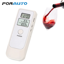 Breathalyzer Alcohol-Detector Backlight with Lcd-Clock FORAUTO Portable