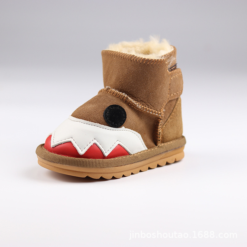 New Style Monster CHILDREN'S Snow Boots Sheep Fur CHILDREN'S Shoes Wool Shoes Children Ugg
