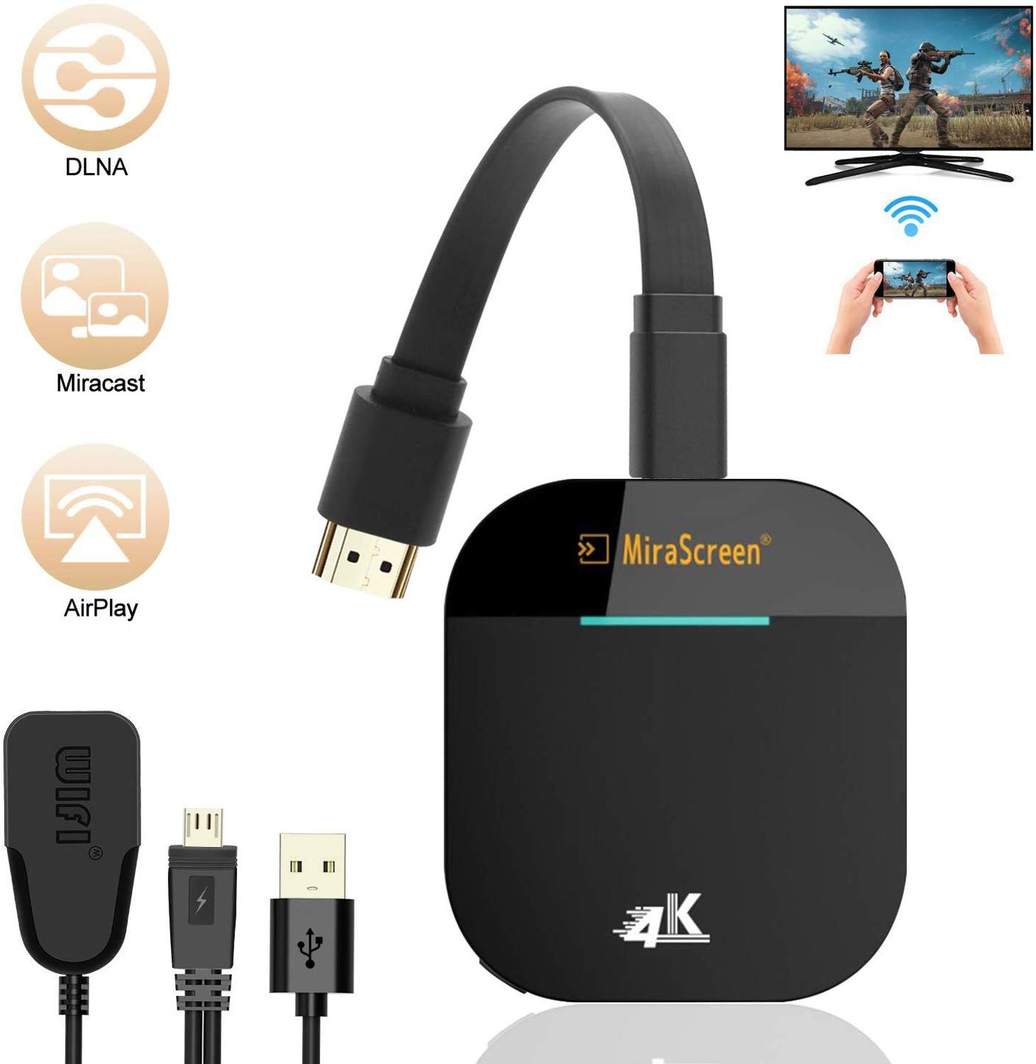 AMKLE Mirascreen G5 2.4G 5G 1080P 4K Wireless HDMI Dongle TV stick Miracast Airplay Receiver Wifi Dongle Mirror Screen Cast(China)