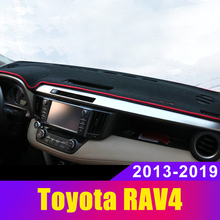 Car Dashboard Cover Mats Avoid Light Pad Instrument Platform Desk Carpet For Toyota RAV4 2013 2014-2017 2018 2019 2020 Accessory