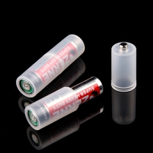 4 Pcs AAA To AA Size Battery Case Switcher Convenient Converter Adapter Holder