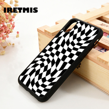 Iretmis 5 5S SE 6 6S TPU Silicone Rubber phone case cover for iPhone 7 8 plus X Xs 11 Pro Max XR Crazy Checkered