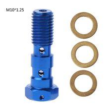 Cylinder hamulca głównego wężyk olejowy śruba uniwersalne śruby rurowe śruby do motocykla nowość tanie tanio Connector Screw 38mm 1 4in Japan Aluminum Alloy