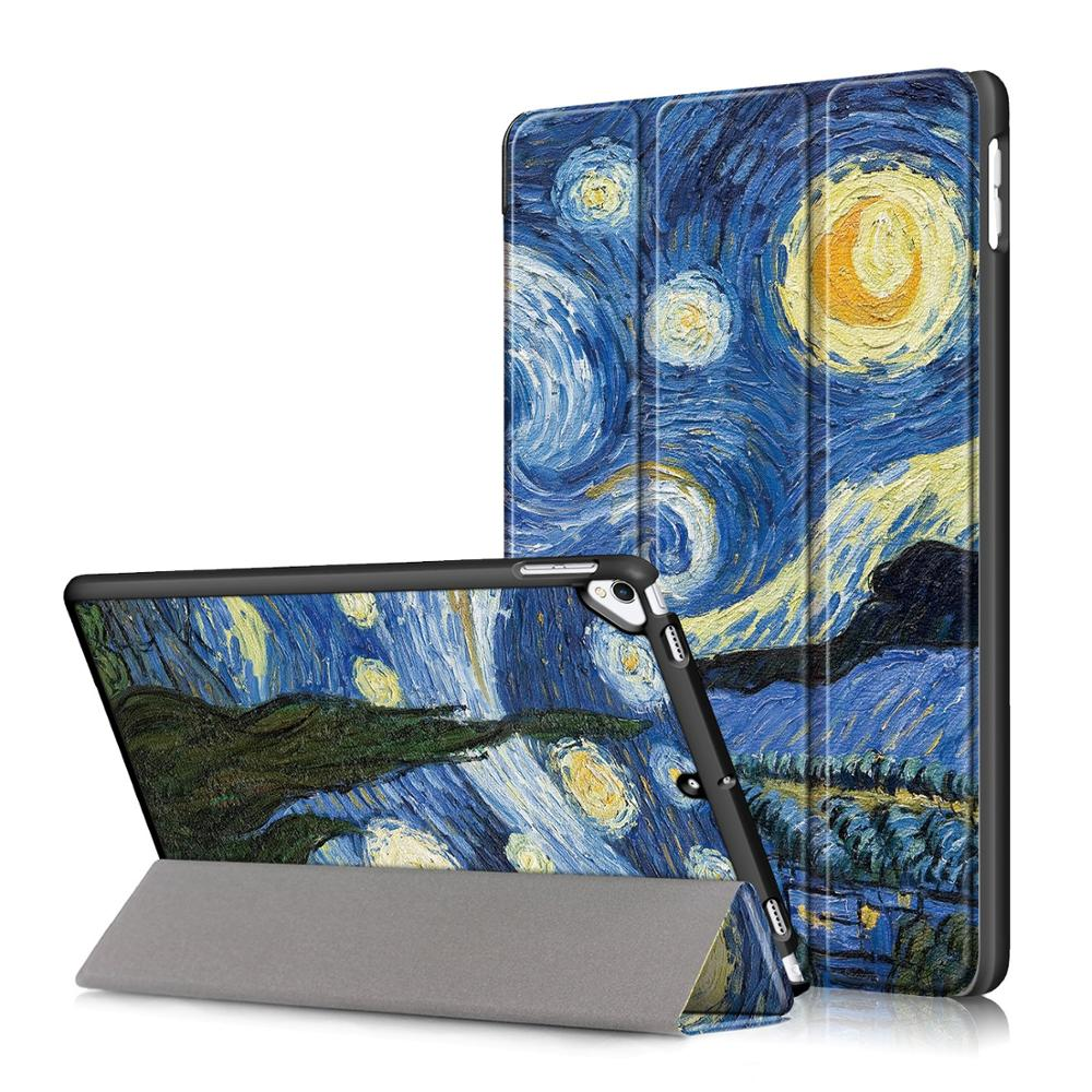 E Silver Smart PU Leather Case for iPad 10 2 2019 Case Cover for Apple iPad 7 7th