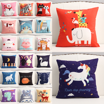 Cartoon Decorative Pillowcase Cushion Covers 45*45/40*40/45*45/50*50 For Home Sofa Car Decor Anime Plush Pillow Cover 1pc pillow case pillowcase decorative pillow cover cartoon dogs bedding for kids baby boys girls 70 70 50 70 50 75 65 65 45 45