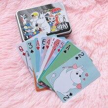 Муми Уход мультфильм коллекция игральные карты водонепроницаемый бумажные карты 54 шт. мультфильм карты милый из печати покер Бегемот