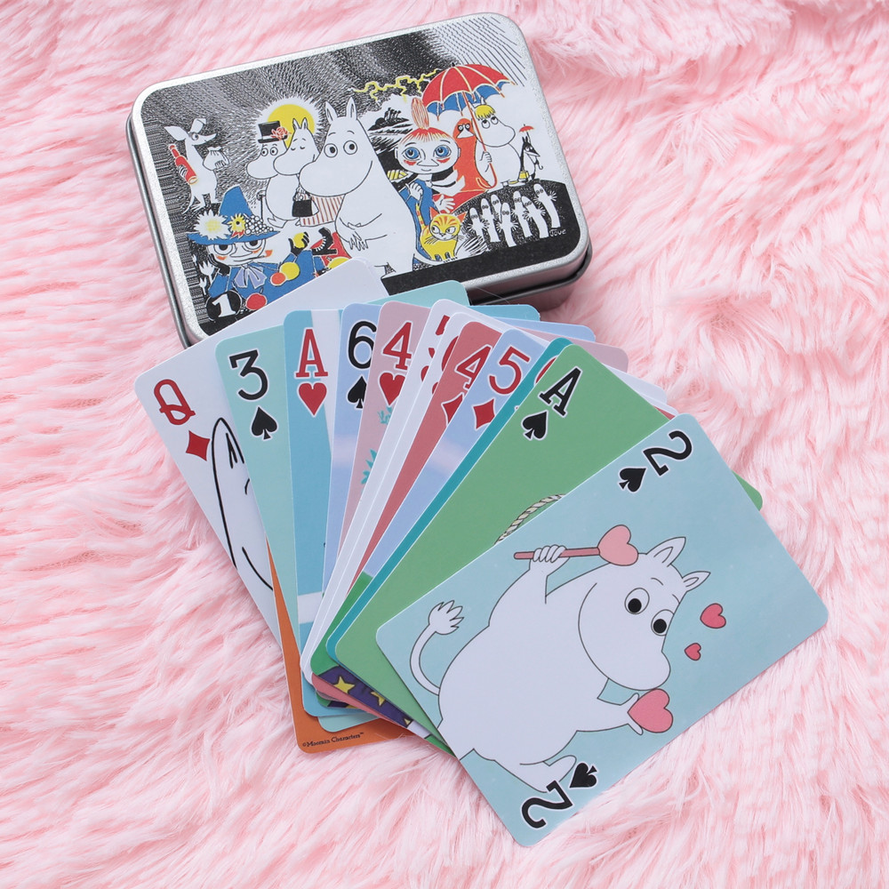 Moomin MUUMI Care Cartoon Collection Playing Card Waterproof Paper Card 54 Pieces Cartoon Card Cute Out Of Print Poker Hippo