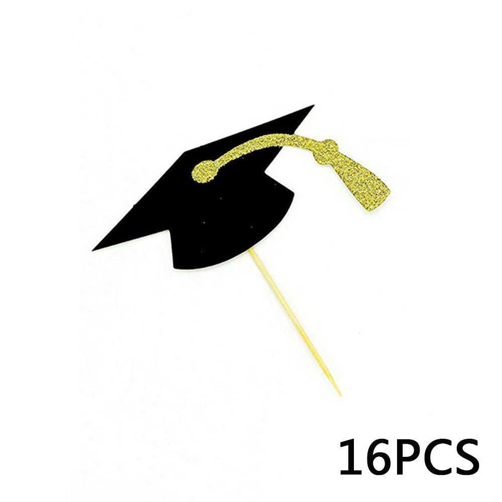 48 Pcs 2020 Baru Ulang Tahun Kelulusan Diploma Dekorasi Kue Perlengkapan Pesta Booth Memasukkan Kartu Alat Peraga