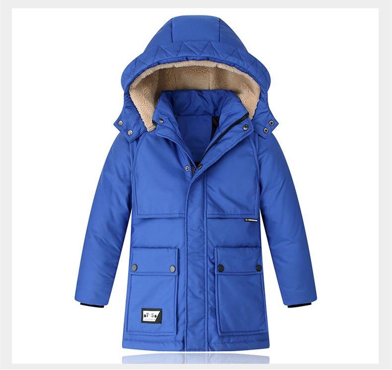quente com capuz casacos longos para meninos