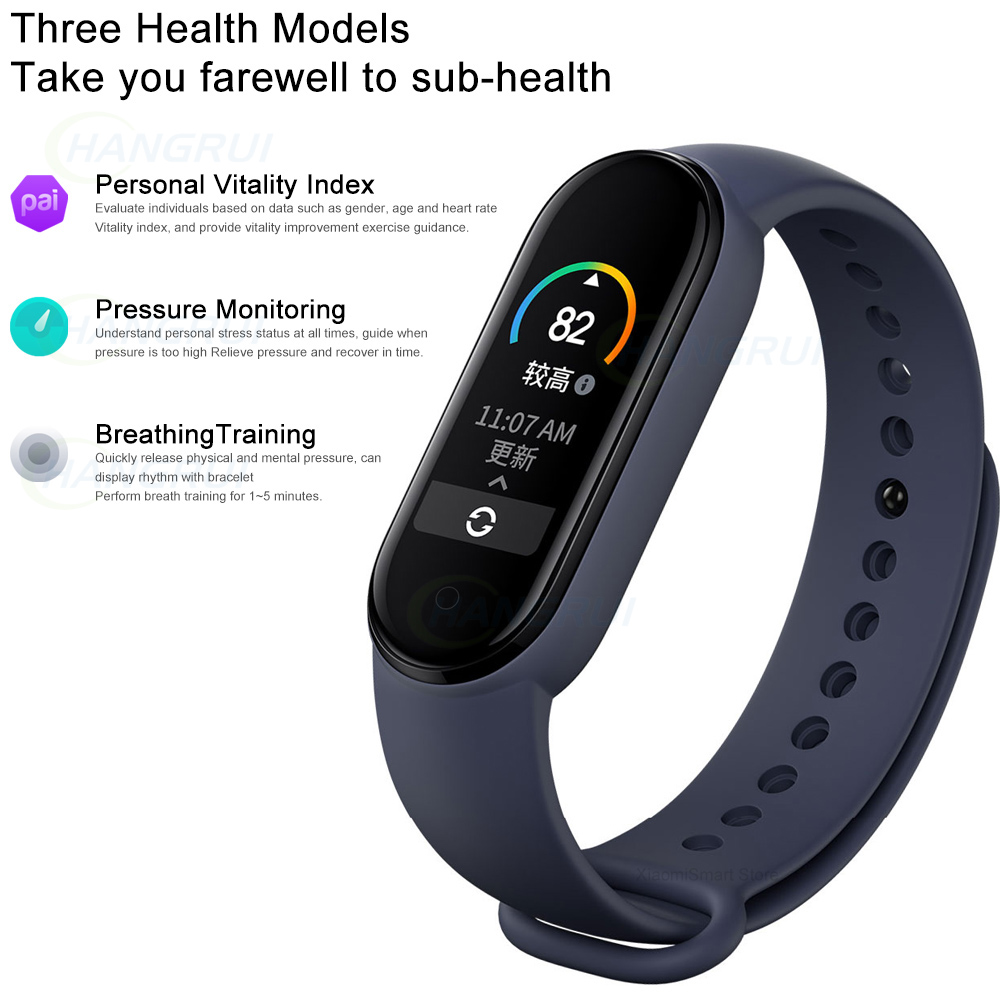 lowest price Original Xiaomi Mi Band 5 Smart Watch 4 Color AMOLED Screen Bluetooth Sport Waterproof Bracelet Heart Rate Music Track Monitor