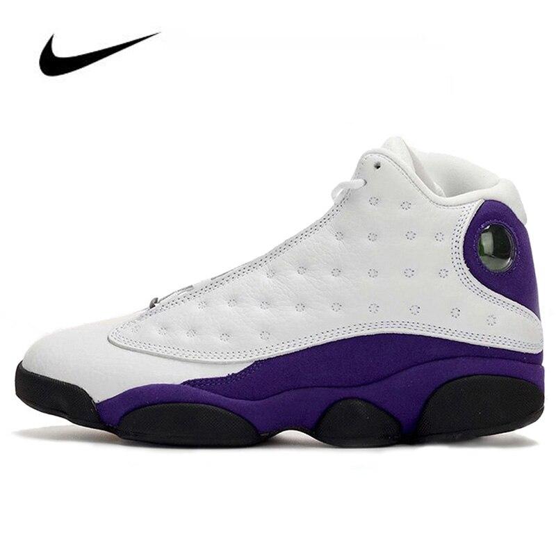 Nike Air Jordan 13 Retro Lakers Rivals Men Jordan Basketball Shoes Women Unisex  Gym Training Sneakers Boots 414571-105