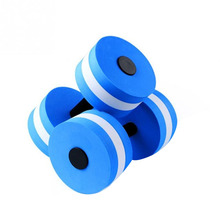 1Pc Outdoor Pool Toys Eva Foam Floating Dumbbells Summer Water Dumbbell Toys Swimming Pool Floating Dumbbells Water Support Dumb outdoor cordura fabric floating pool floating wand water bean bag factory landed relax lounger after floating