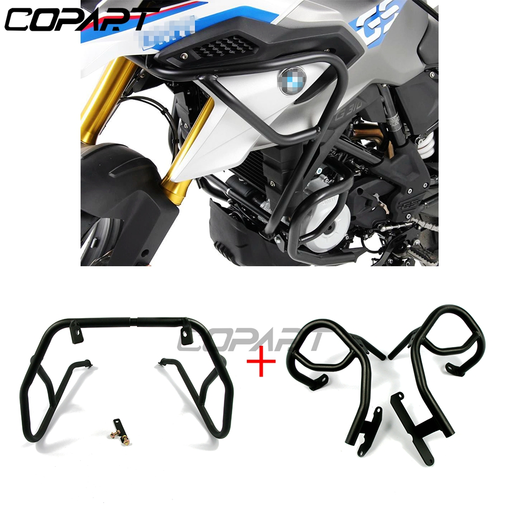 Motorcycle Upper Lower Engine Tank Guard Crash Bar Bumpers Stunt Cage Decor Block Protection For BMW G310GS <font><b>G310R</b></font> G310 2017 2018 image