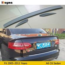 цена на ABT style polyurethane rear trunk spoiler For Audi A6 C6 Sedan 2005-2011 year Car PU spoiler Wing (Not fit sline&s6&rs6)