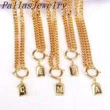 6 шт a  z ожерелье с буквенным принтом алфавитная цепочка для