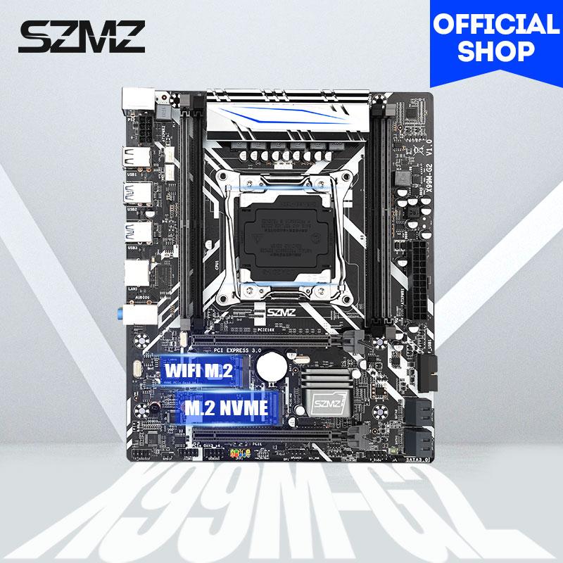 SZMZ X99 LGA 2011-3 motherboard with 4pcs DDR4 ECC REG RAM PCIE 16X and SSD M.2 support E5 2678V3 E5 2620V3 E5 2650V3 E5 2695V4 1