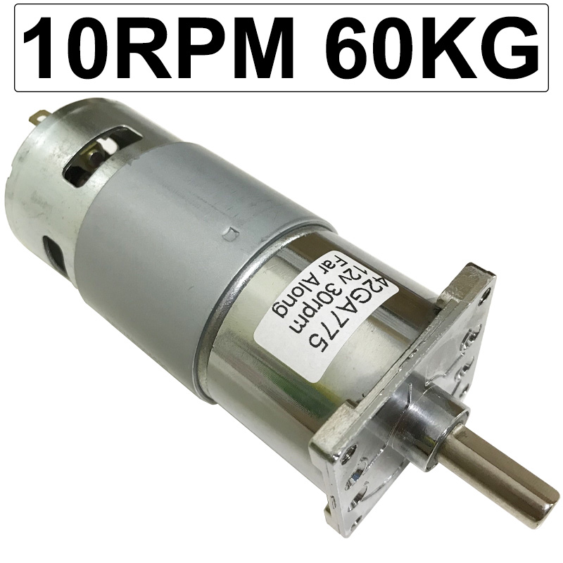 Electric Micro DC High Torque Geared Motor Slow Speed 10-600RPM DC 12 Volt 24V Motors Reversed Adjustable Speed For Toy Printer