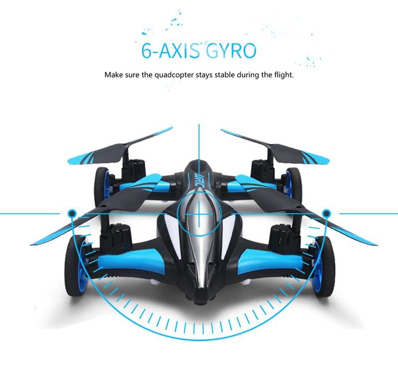 Rc zangão mini zangão quadcopter carro duplo