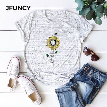 JFUNCY Plus Size 2020 Summer T Shirt Women Oversize T-shirt Female 100% Cotton Short Sleeve Tee Top New Print Woman Loose Tshirt jfuncy cute avocado cat print oversize women loose tee tops 100% cotton summer t shirt woman shirts fashion kawaii mujer tshirt