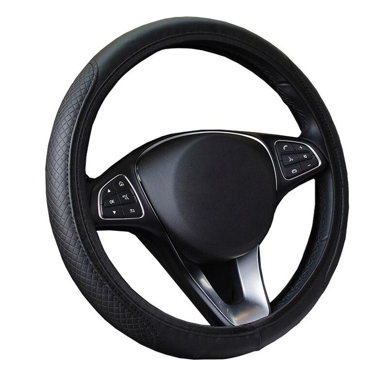 Из искусственной кожи без внутреннего кольца Auto чехол рулевого колеса автомобиля для 37 - 38 см 14,5 дюйма-15 дюймов, противоскользящие, размер M, ...