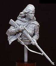1/10 امرأة قديمة ضابط تمثال نصفي الراتنج نموذج لجسم أطقم مصغرة gk غير مصبوغ