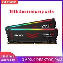 Gloway نوع B سلسلة DDR4 8 gb * 2 16 gb 3000 mhz RGB RAM للألعاب سطح المكتب dimm مع عالية الأداء ميموريال ram