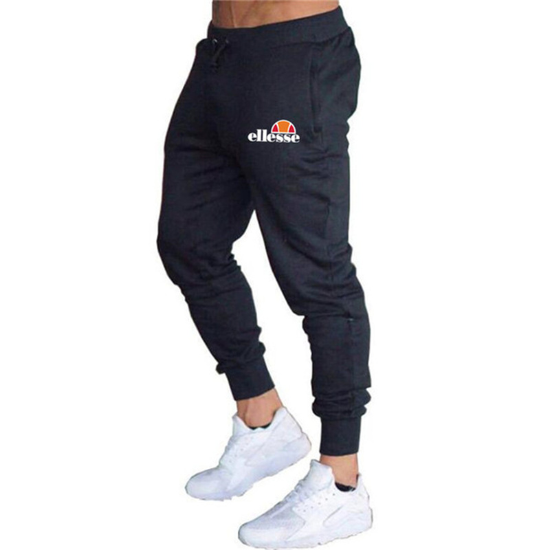 Brand Pure Color Casual Men's Slim Fit Sports Pants Pure Color Men's Gym Cotton Slim Fit Jogger Sports Casual Pants Trousers