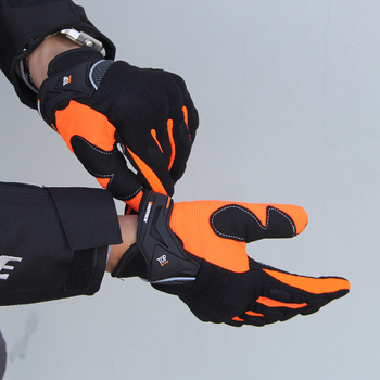 Ridding Gloves Guantes Moto Touch Screen Motorcycle Gloves Mesh Breathable Spring And Autumn Full Finger Gloves Anti-slip 4