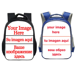 Niestandardowy obraz Logo nazwa plecak 13 Cal Cartoon plecaki przedszkolne chłopcy dziewczęta dzieci szkolne torby książka dla dzieci torba prezent
