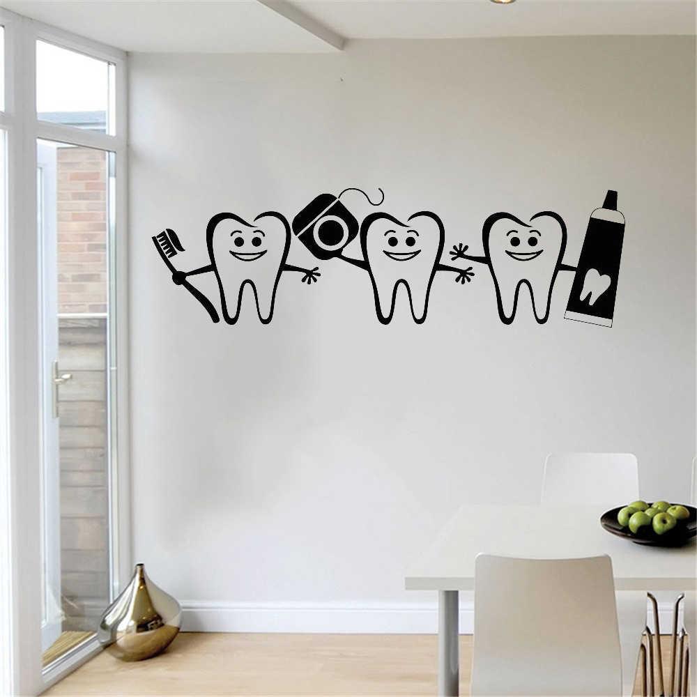 Лидер продаж, Наклейки на стены для ухода за зубами, виниловые наклейки на дверь, окно, Декор для дома, ванной комнаты, плакат, наклейка на зуб, LW752