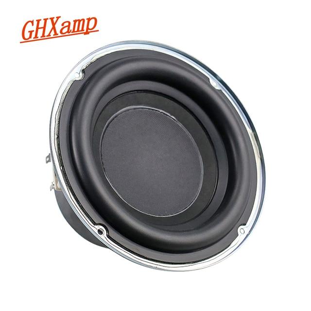 Ghxamp 6,5 zoll Subwoofer Lautsprecher 4ohm 100W Woofer Lautsprecher Tiefe Bass 30 Core Lange Hub Gummi Rand 1PC