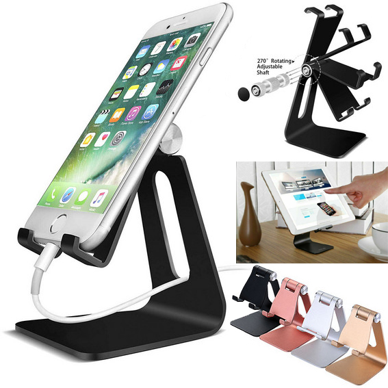 Cell Phone Tablet Switch Stand Aluminum Desk Table Holder Cradle Dock IPhone Universal Multi-Angle Stand