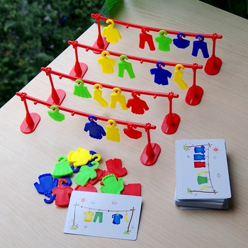 Multiplayer Clothes Contest Play Early Education Toys Logic Training Teaching Interactive Party Board Game