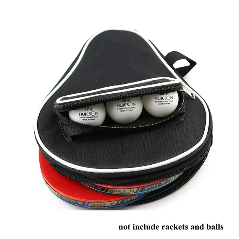 Training Table Tennis Rackets Bag Dust-proof Zipper Steel Ping Pong Case Set Pingpong  ··