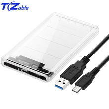 2.5 HDD Case USB 3.1 SATA Ke USB 3.0 SSD Adaptor Notebook Hard Disk Kotak USB3.1 1TB 2 tbtype C Eksternal HDD Kandang(China)