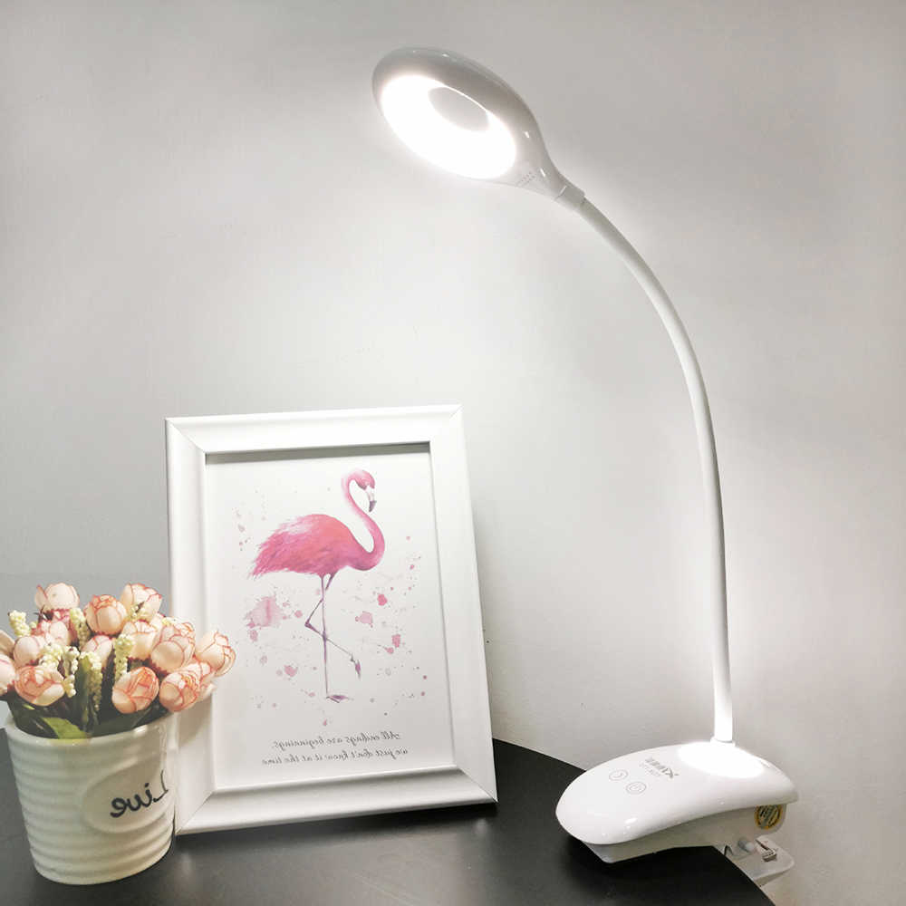 שולחן מנורת שולחן מנורת USB נטענת נייד LED קליפ על מגע מתג מחקר קריאת משרד תלמיד שולחן מנורת עסקים מתנה